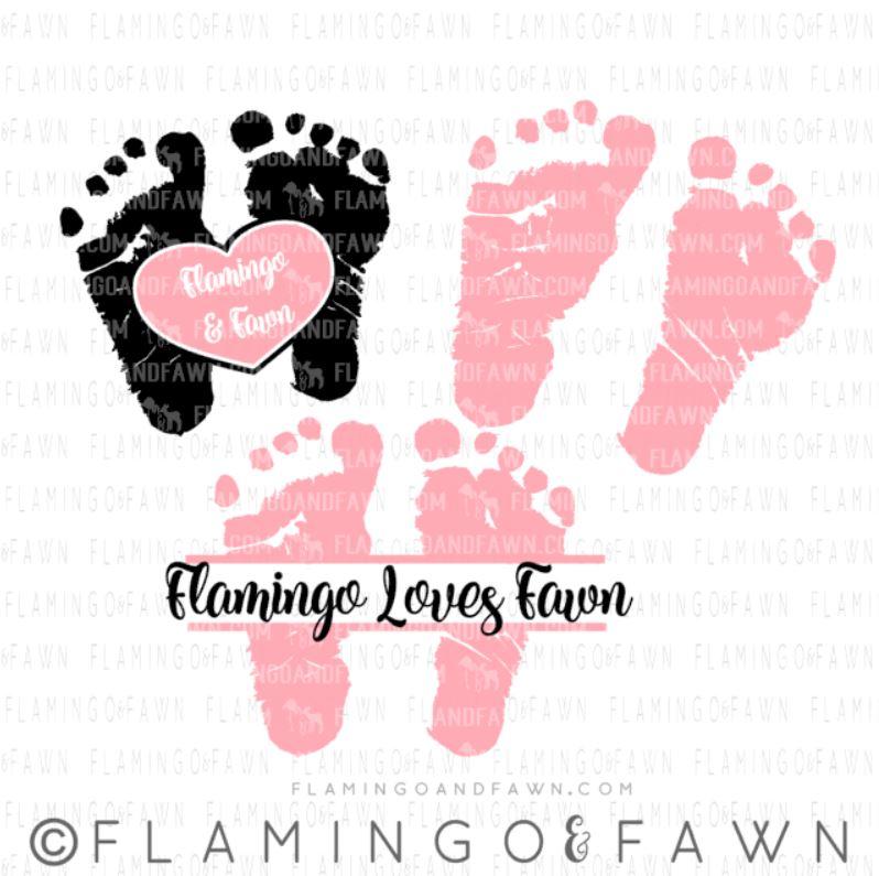 baby footprint svg