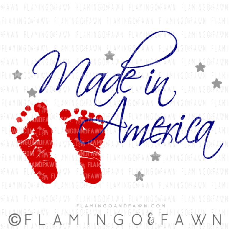 4th of july baby svg