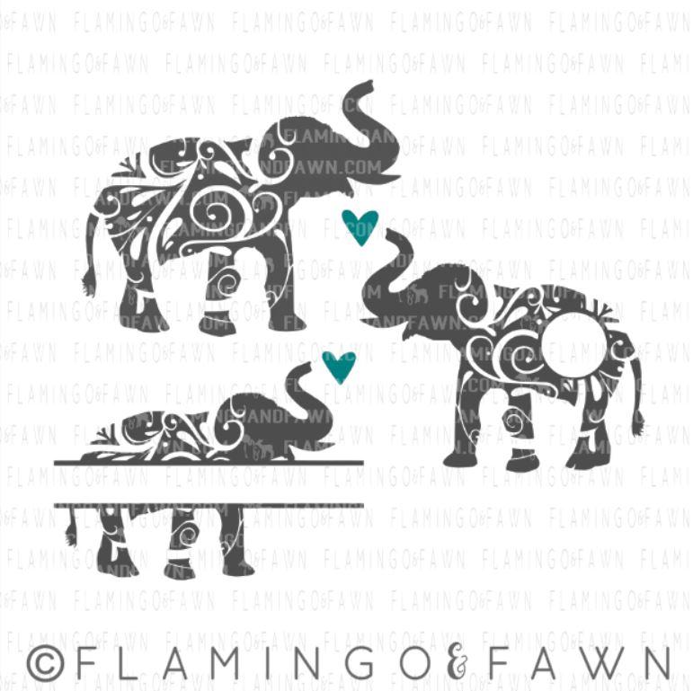 elephant flourish svg
