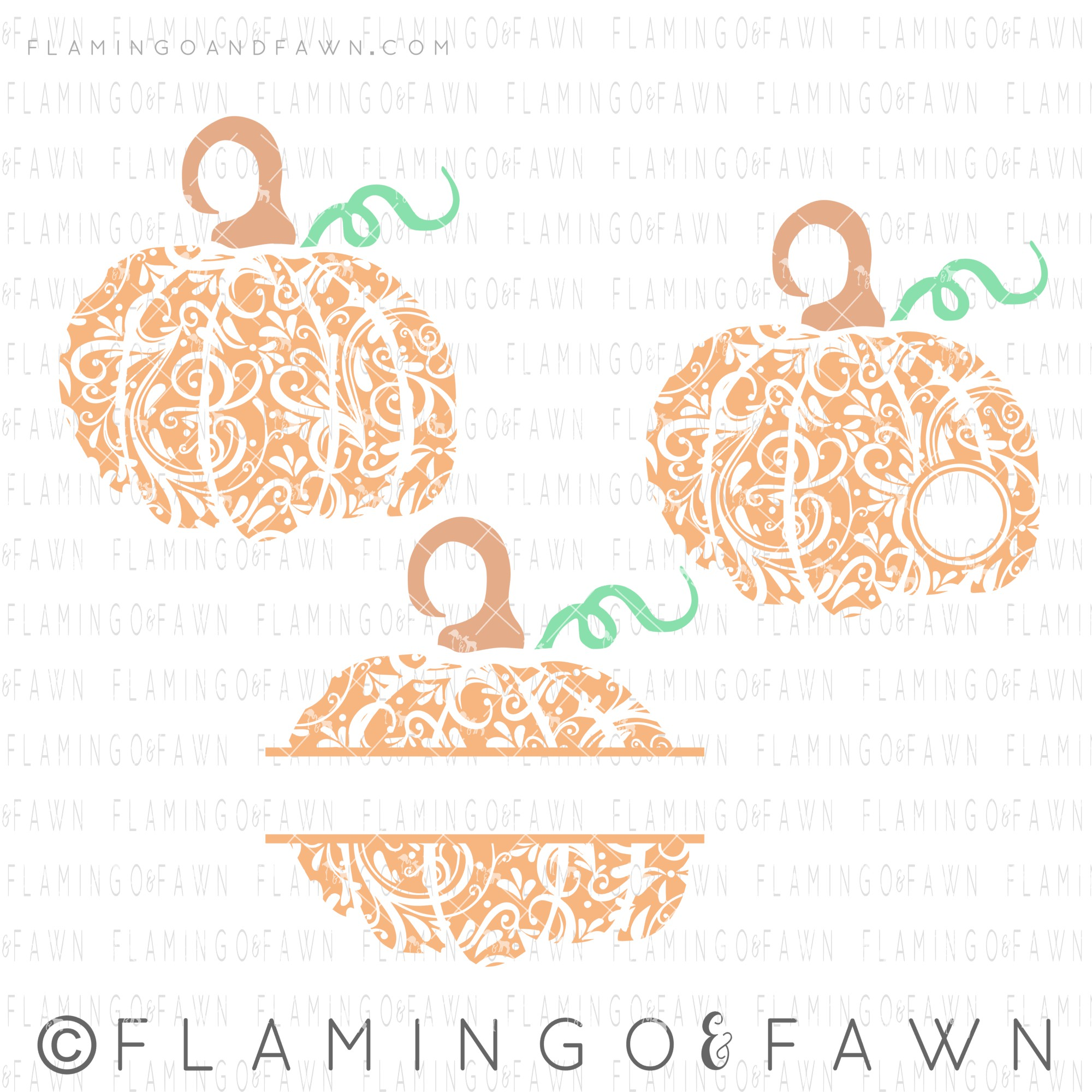 pumpkin flourish svg