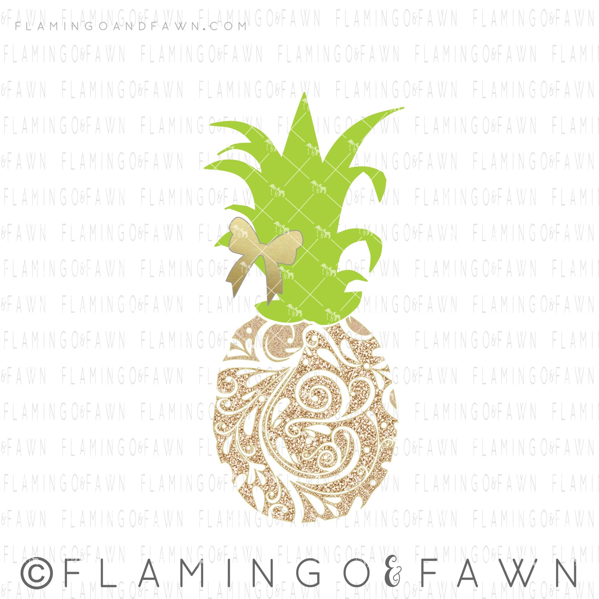 flourish pineapple svg