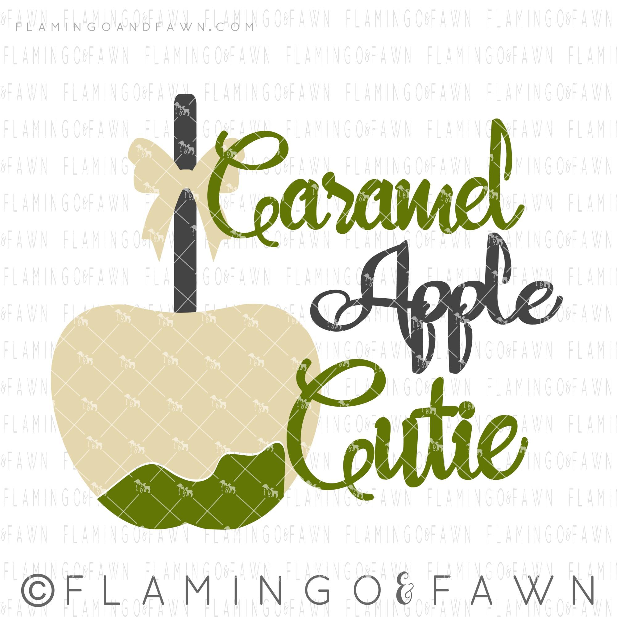 caramel apple svg