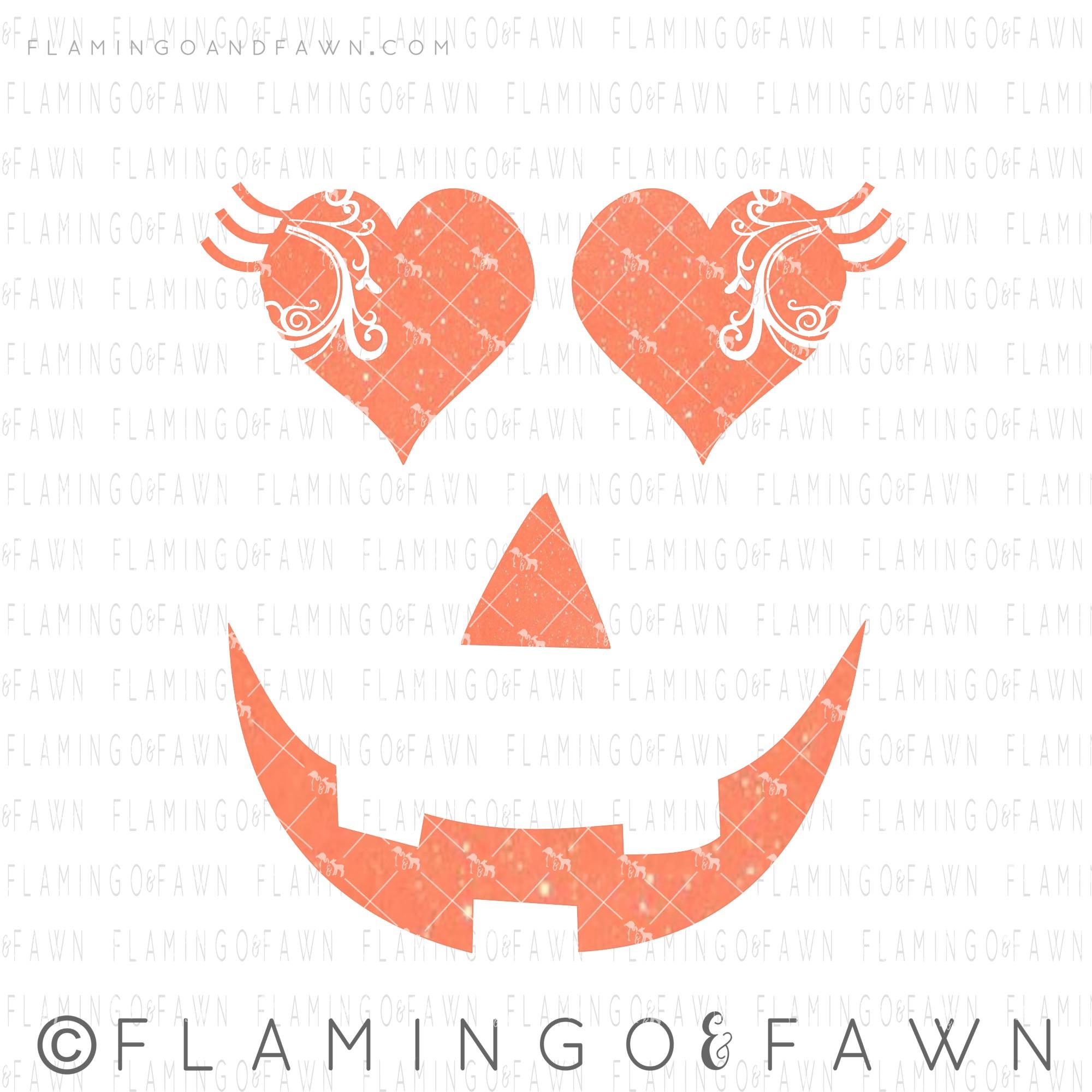 flourish pumpkin face svg