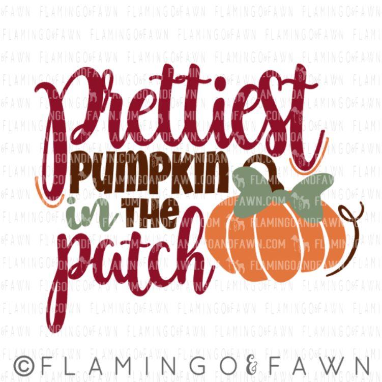 prettiest pumpkin svg