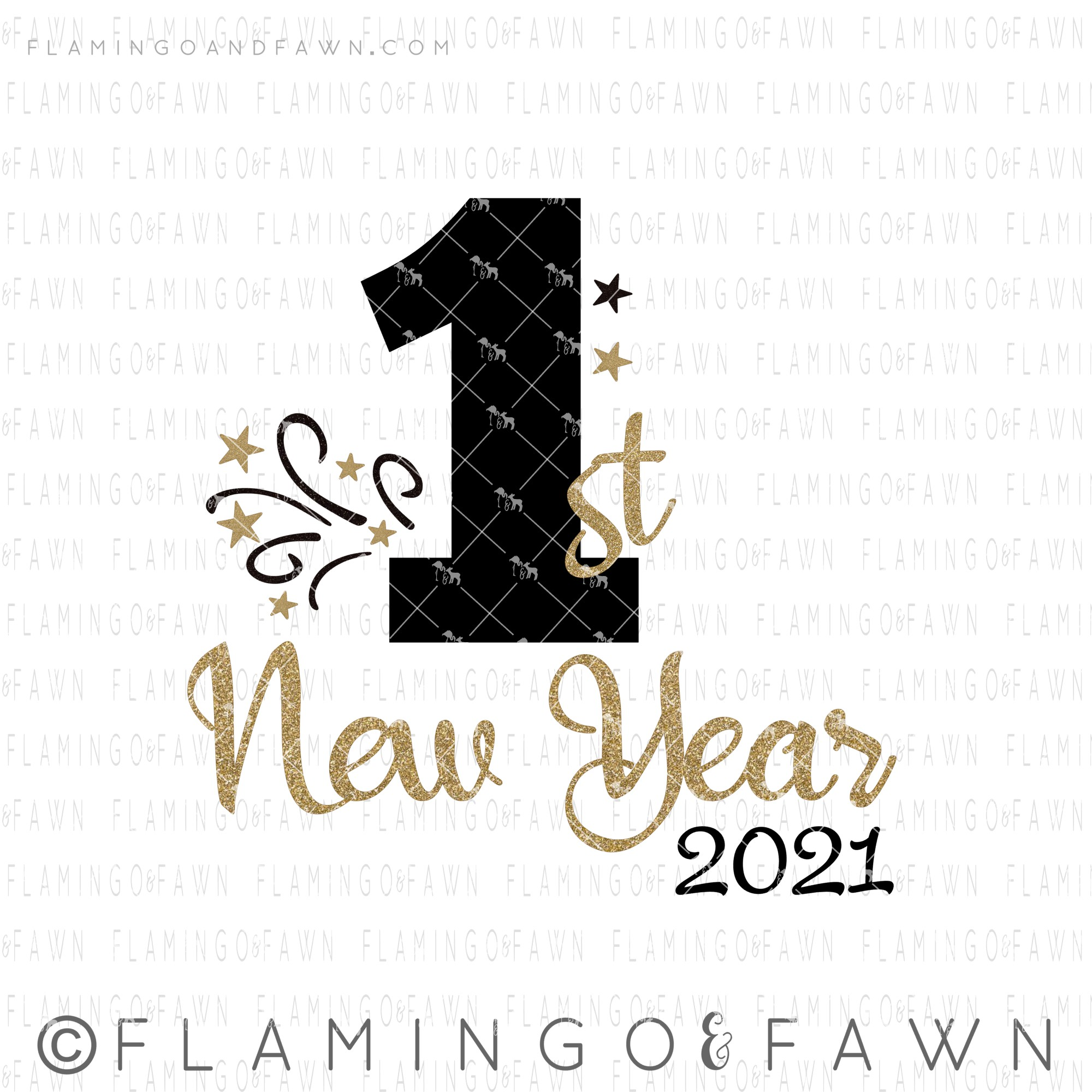 1st new year 2021 svg