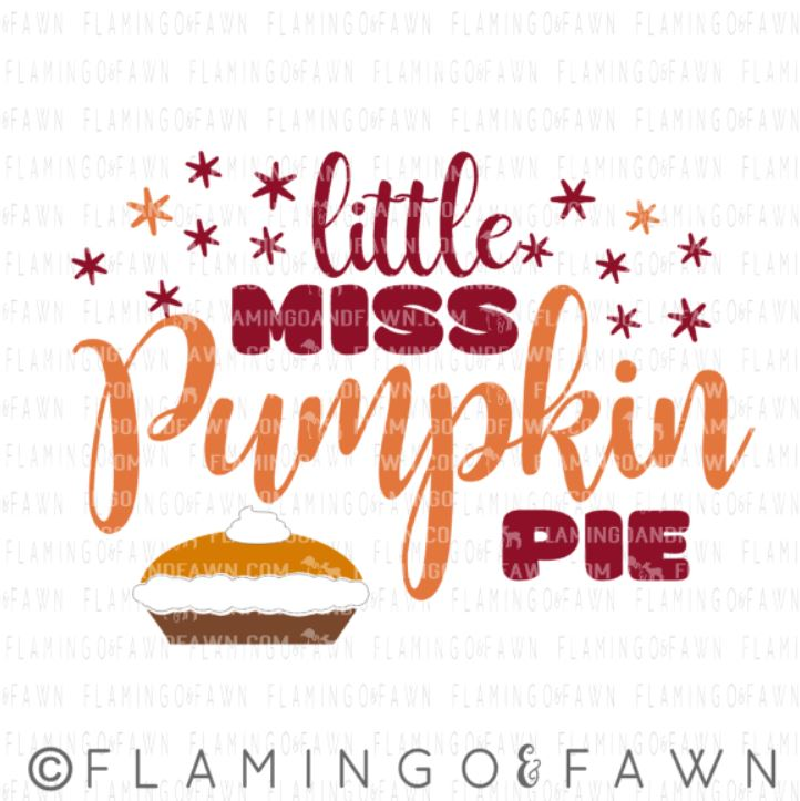 little miss pumpkin pie svg
