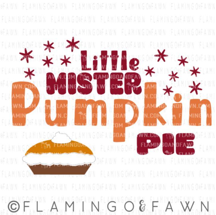 little mister pumpkin pie svg