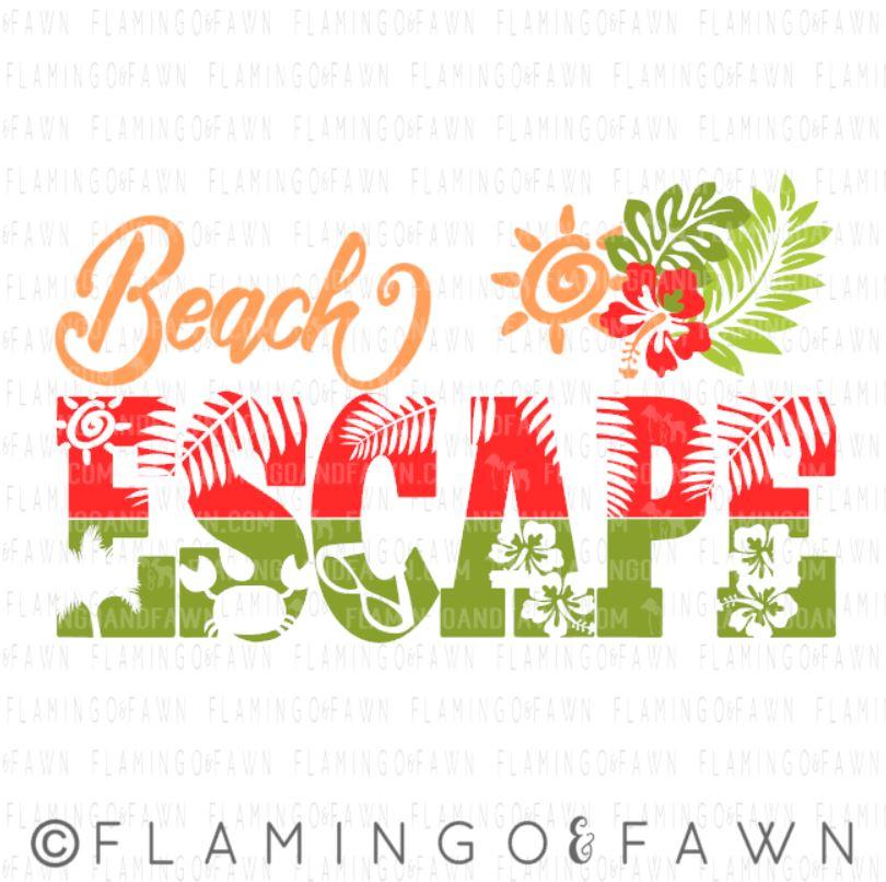 beach escape svg