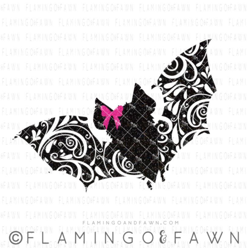 bat flourish svg
