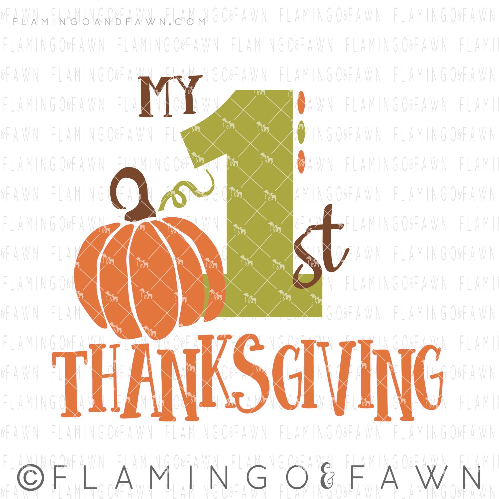 my 1st thanksgiving svg