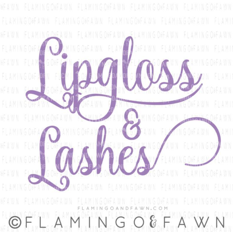 lipgloss and lashes svg