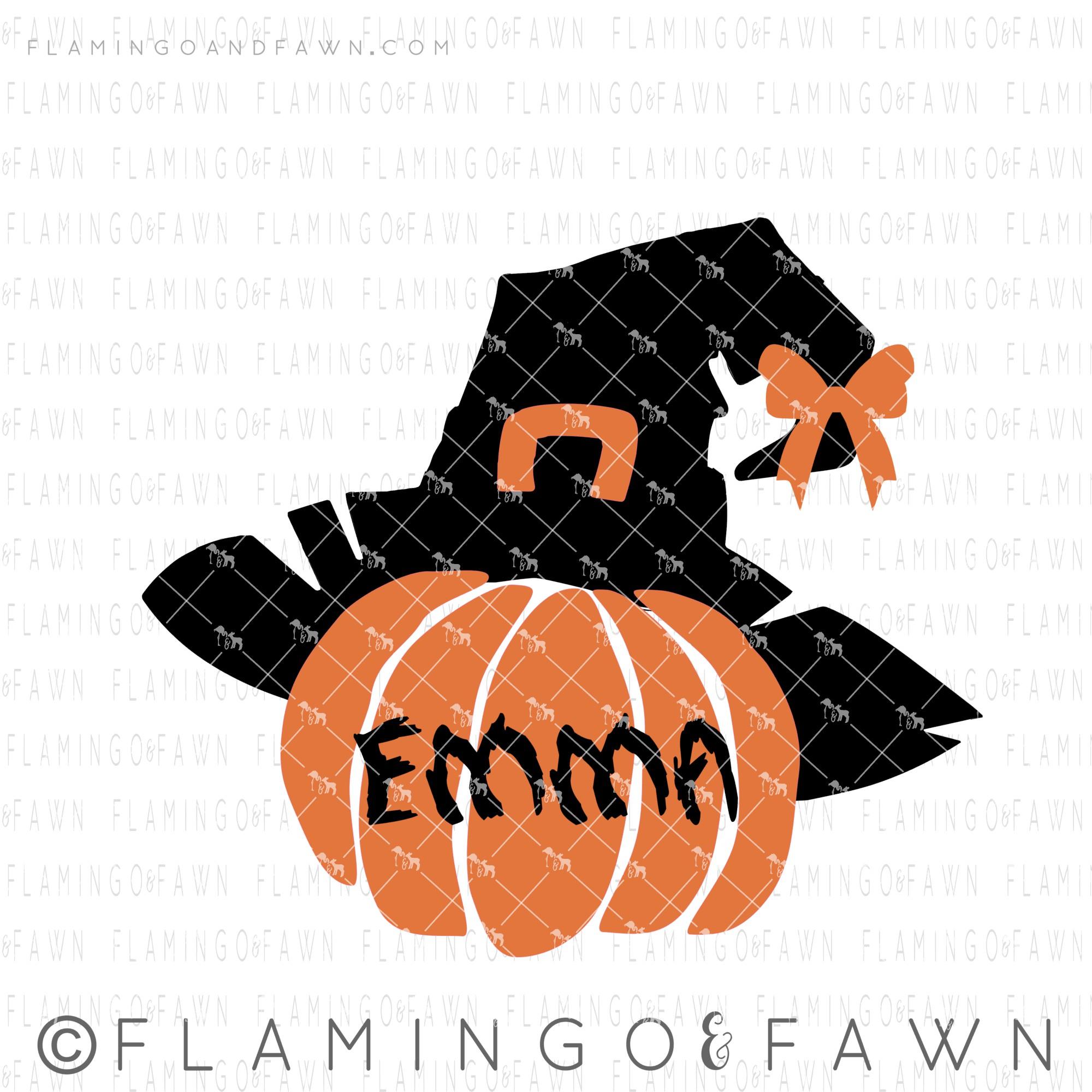 witch pumpkin svg