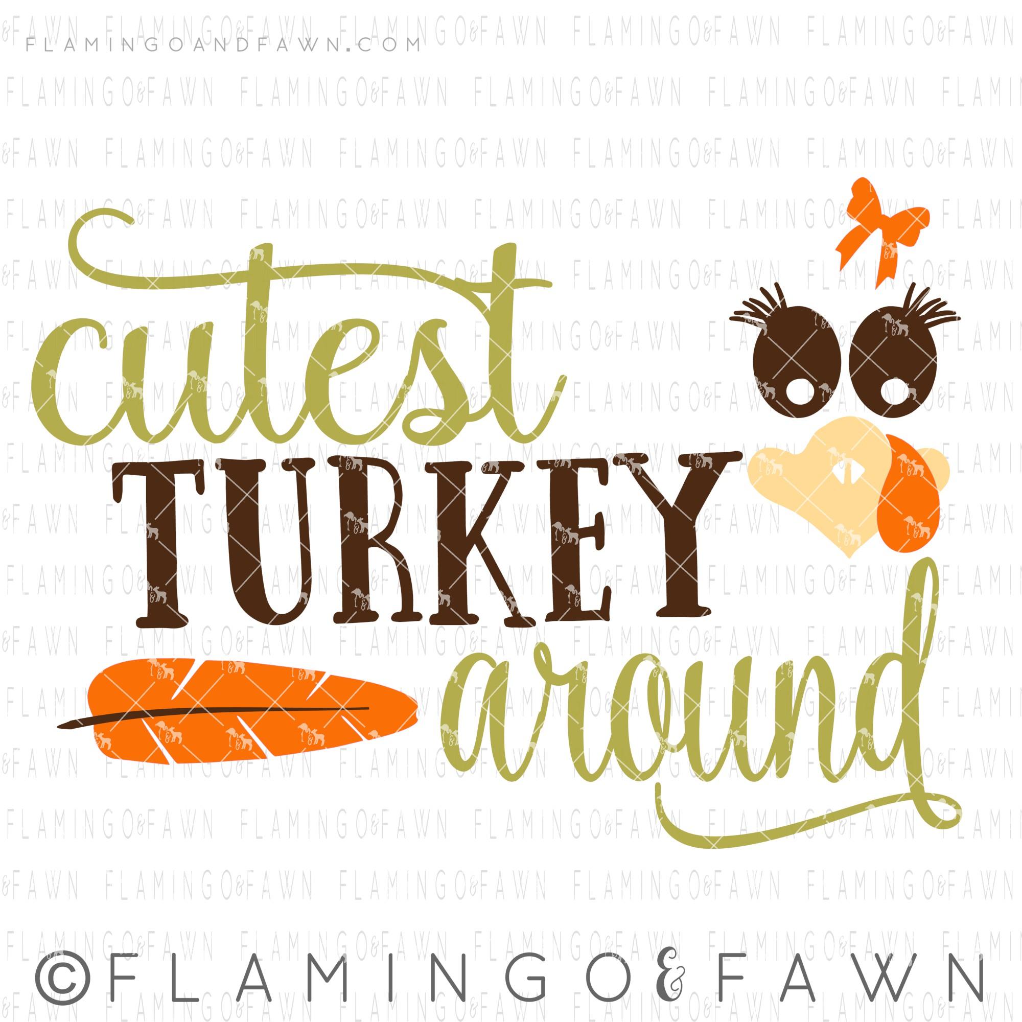 cutest turkey svg