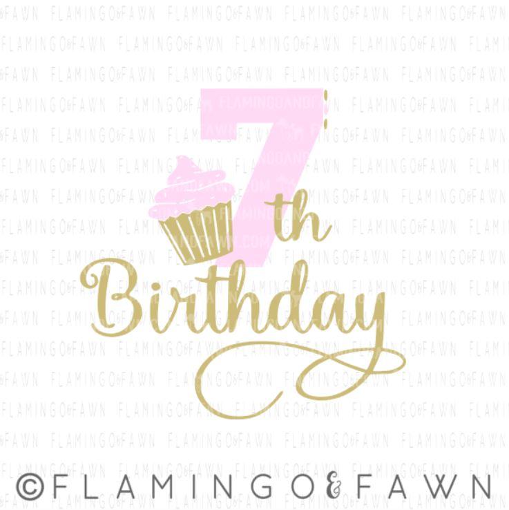 7th birthday svg