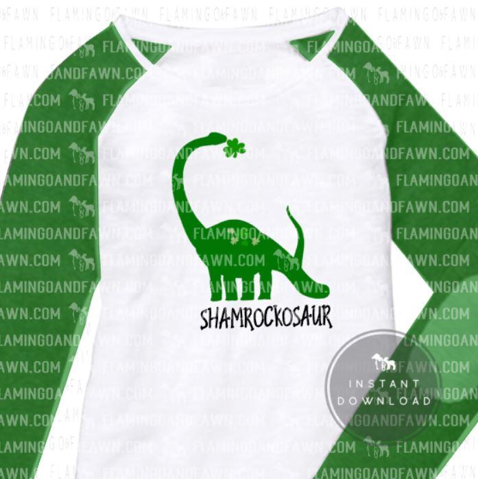st patricks day dinosaur svg