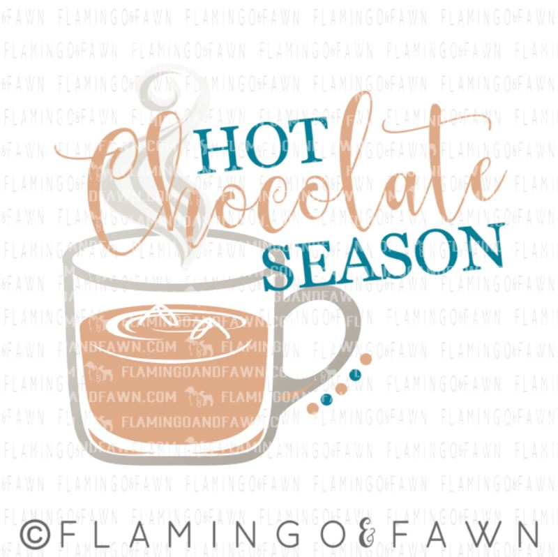 hot chocolate season svg