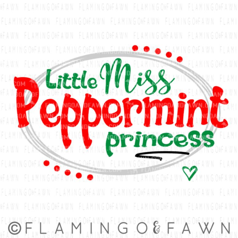 little miss peppermint princess svg