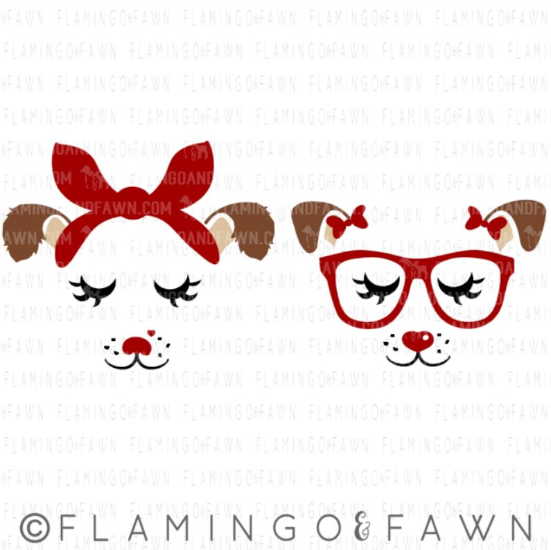 puppy face svg