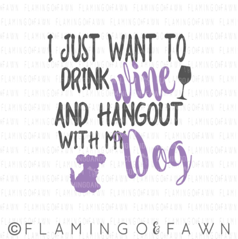 drink with dog svg