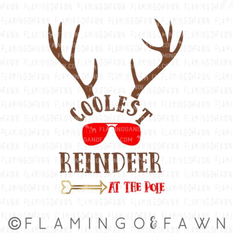 coolest reindeer svg