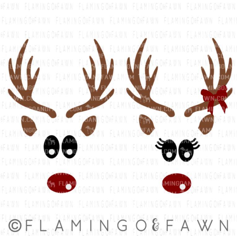 reindeer faces svg