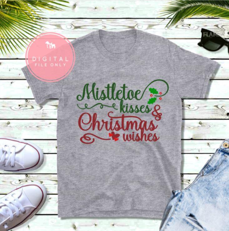 mistletoe kisses svg