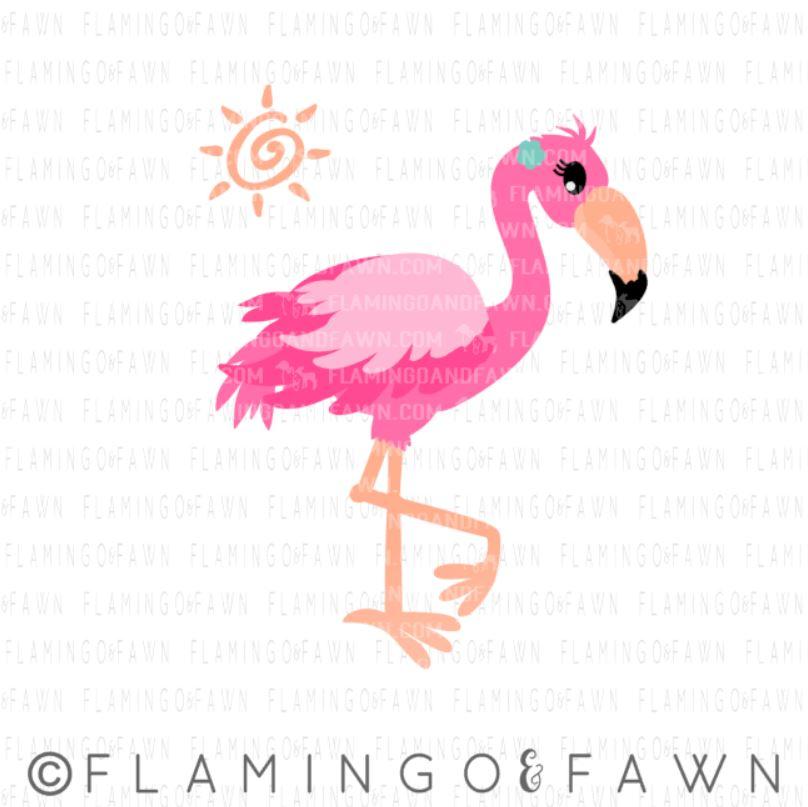 summer flamingo svg