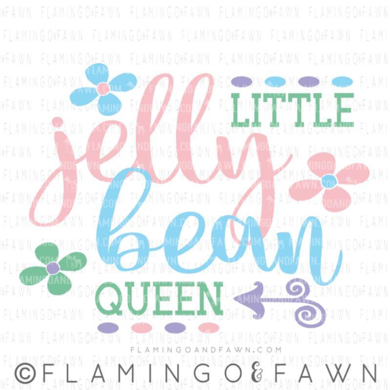 jelly bean queen svg