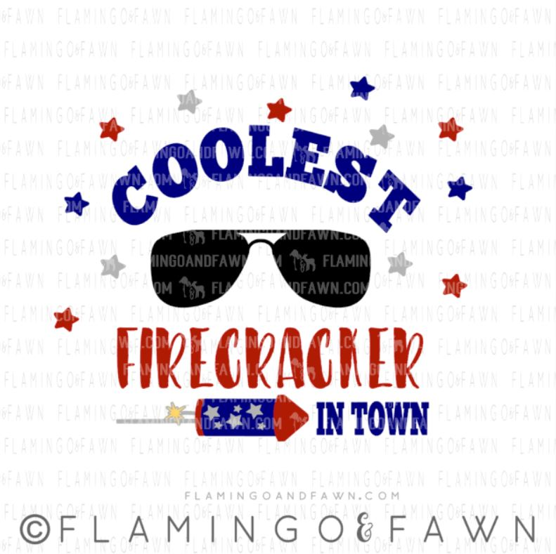 coolest firecracker svg