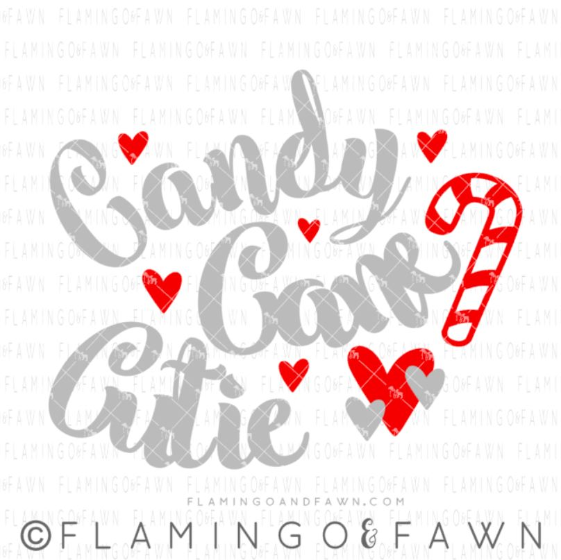 Candy Cane Cutie Flamingo And Fawn