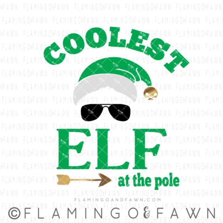 coolest elf svg