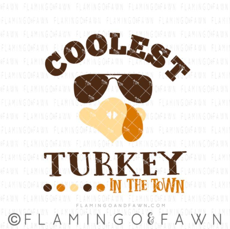 coolest turkey svg