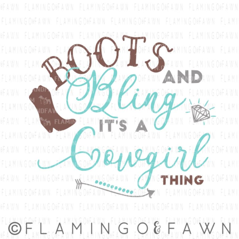 boots and bling svg