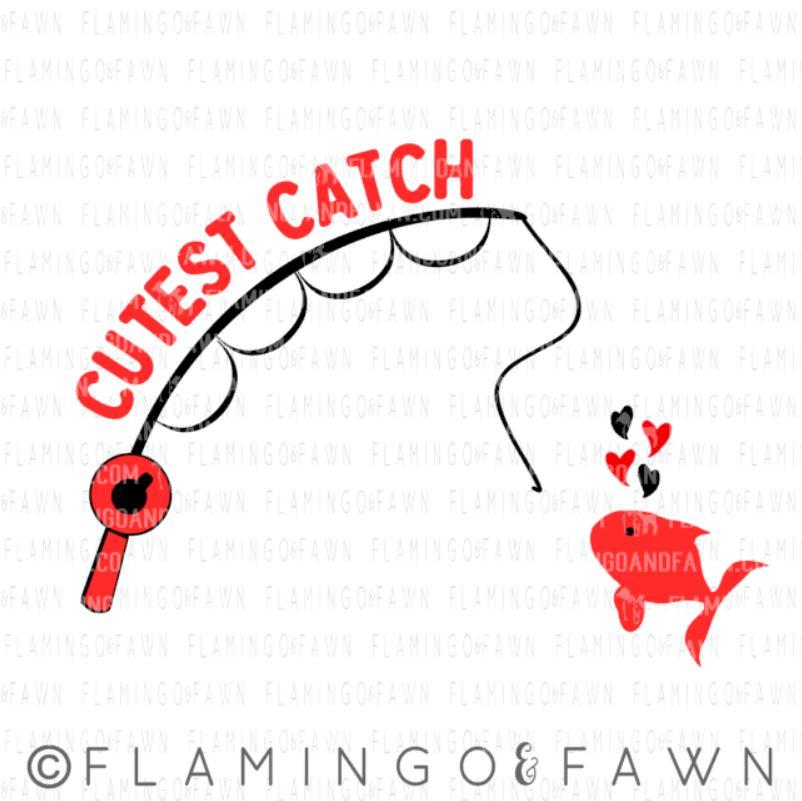 fishing valentines svg