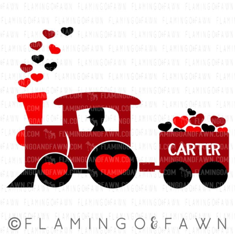 train valentine svg files
