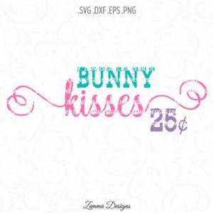 bunny kisses svg