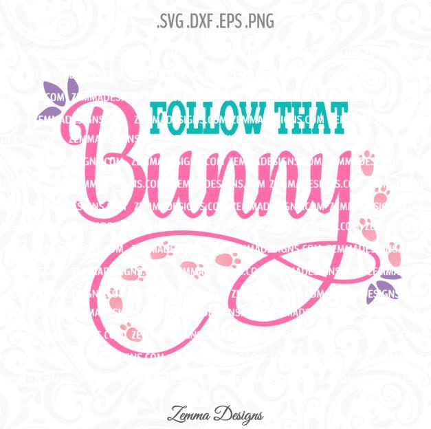 follow that bunny svg