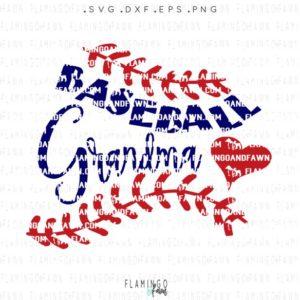 Baseball grandma svg