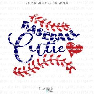baseball cutie svg