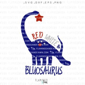4th of july dinosaur svg