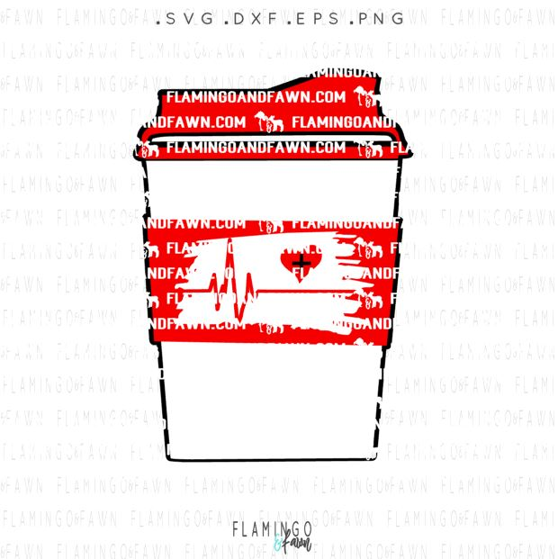 nurse coffee svg