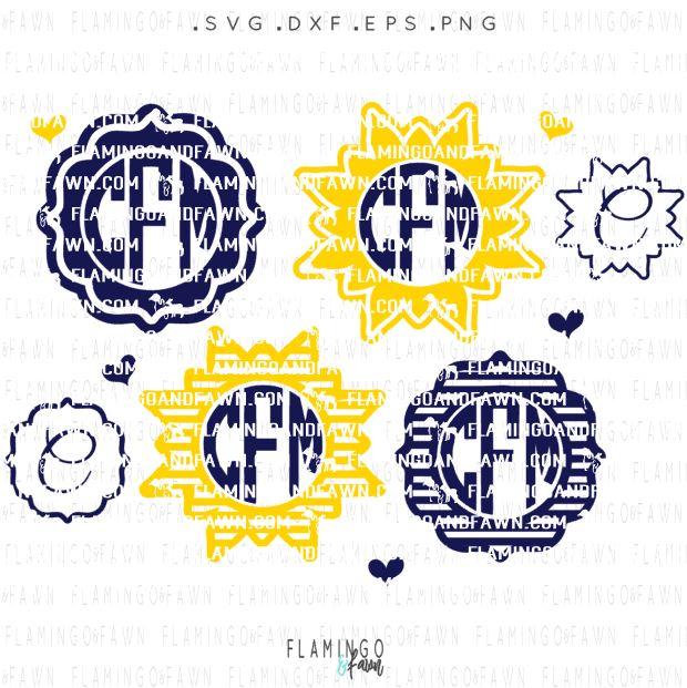 summer monogram svg