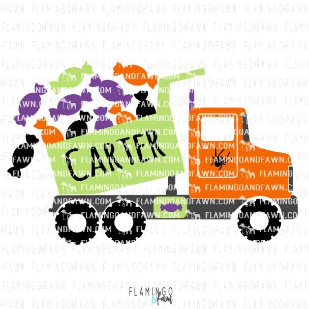 0550 DUMP TRUCK HALLOWEEN CANDY COVER