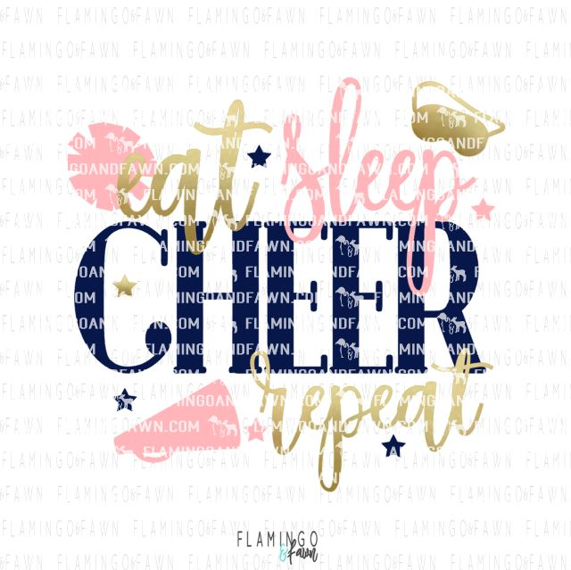 eat sleep cheer repeat svg