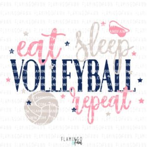 eat sleep volleyball repeat svg