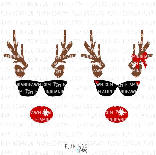 reindeer face svg files
