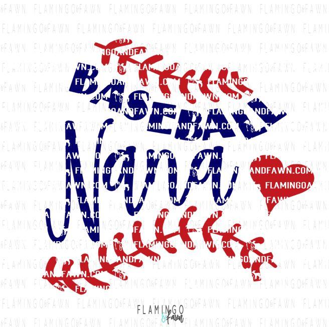 baseball nana svg
