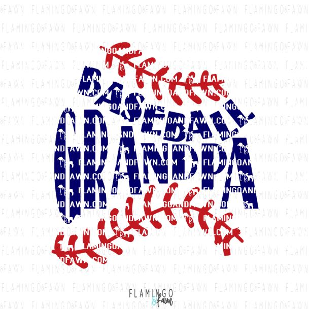 Baseball grandpa svg