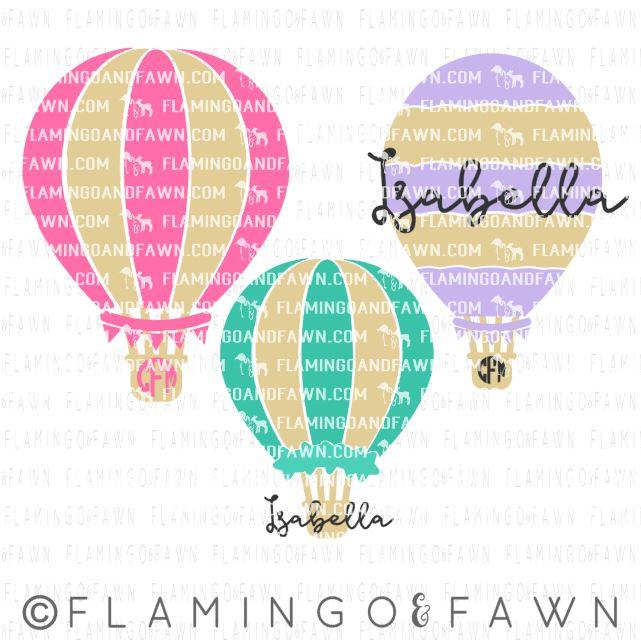 hot air balloon svg