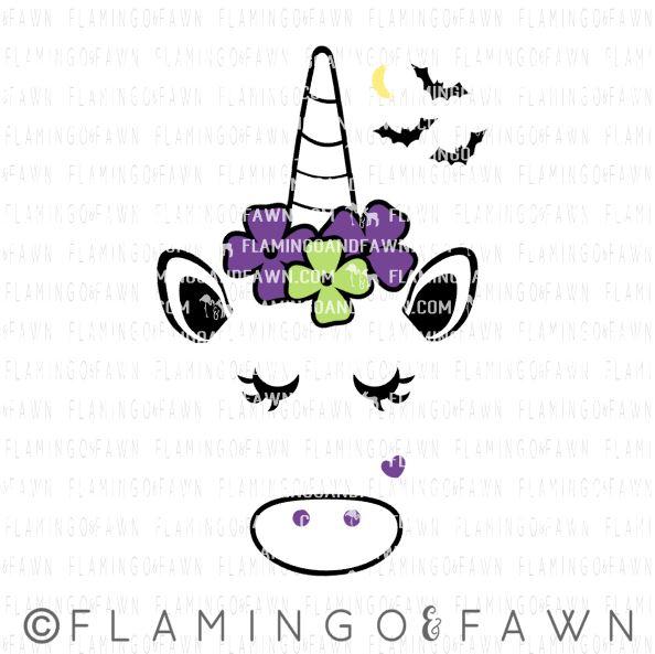 unicorn halloween svg